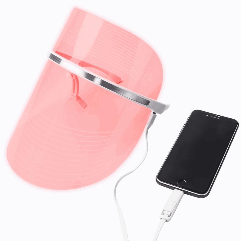 Підключення LED маски для світлотерапії до мобільного телефону