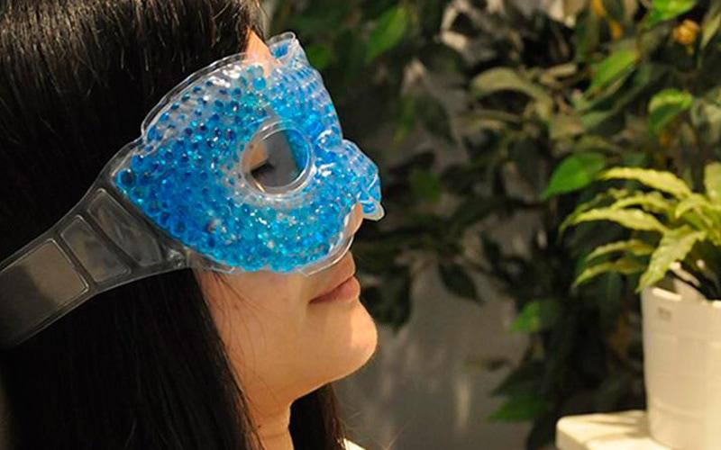 Силіконові окуляри для шкіри навколо очей охолоджуючі і зігріваючі