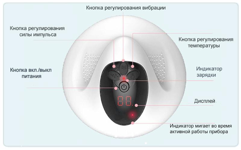 кнопки массажера с микротоком