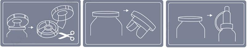 замена крышки сыворотки на пипетку