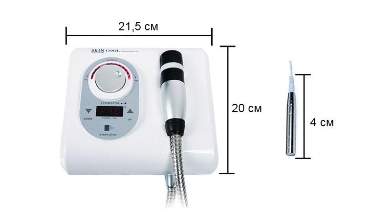 розміри апарату для кріотерапії