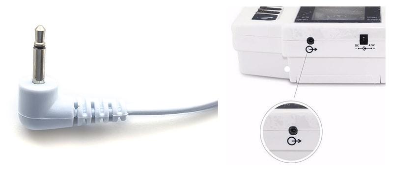 Штекер для соединения с аппаратом миостимуляции