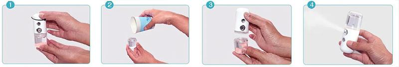 Использование портативного увлажнителя для лица