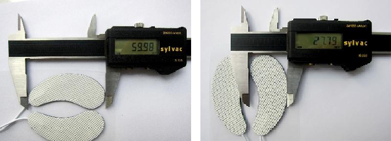 Розмір пластин для електростимуляції