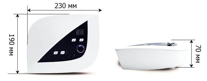 розмір апарату для оксітерапіі і вакуумного масажу
