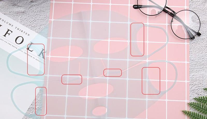 элементы силиконовой маски для лица