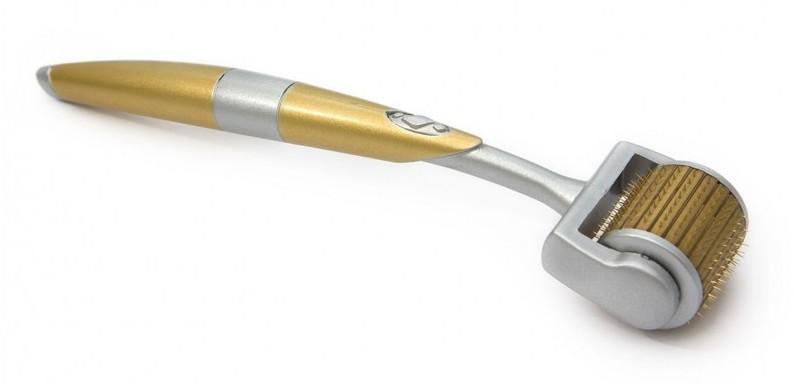 Мезороллер ZGTS с тинановыми иглами и позолоченым напылением
