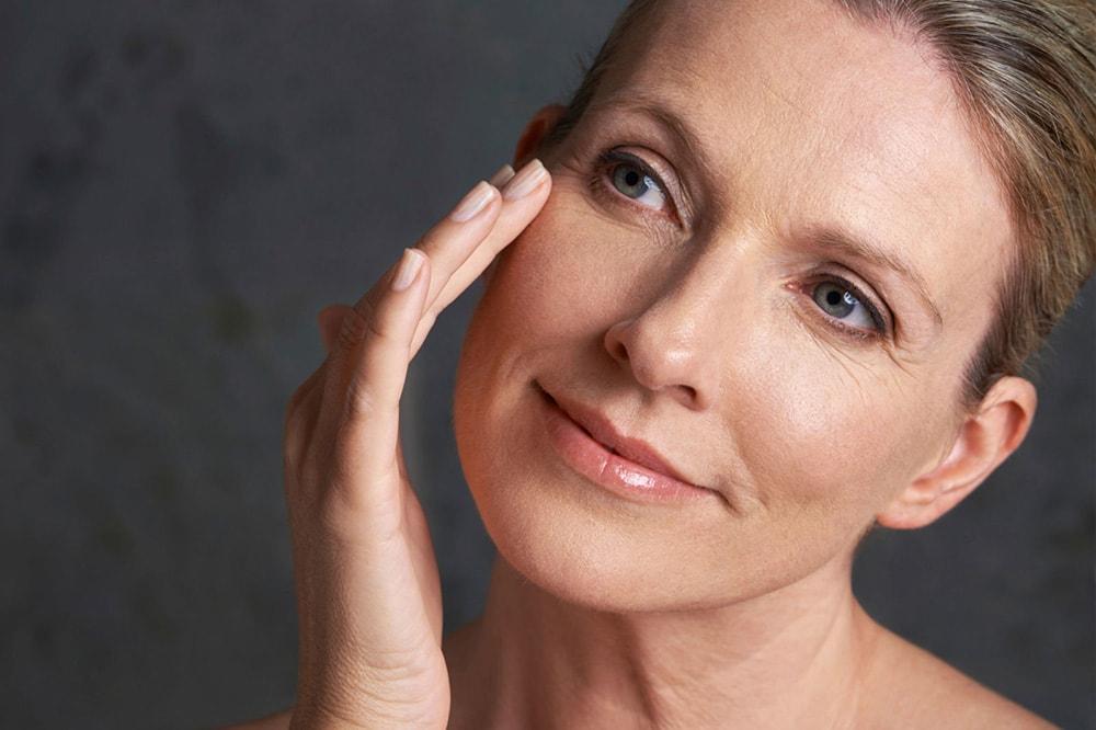 ровная кожа в зрелом возрасте