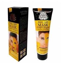 Золотая маска от морщин с коллагеном