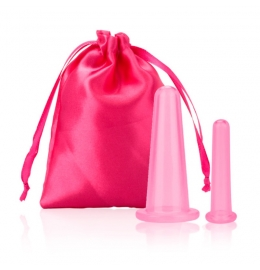Набор из двух силиконовых баночек Sillicone Cup для вакуумного массажа лица