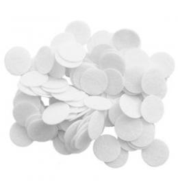 Хлопковые фильтры 10 х 10 мм для аппаратов микродермабразии и вакуумной чистки и массажа 100 шт.  фото 3