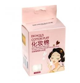 Хлопковые салфетки Cotton Puff от Bioaqua для очищения и снятия макияжа с лица (100 шт.) фото 2