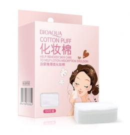 Бавовняні серветки COTTON PUFF від BIOAOUA для очищення і зняття макіяжу з обличчя