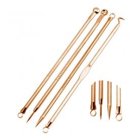 Набор инструментов (золотой) для удаления дефектов и чистки пор фото 4