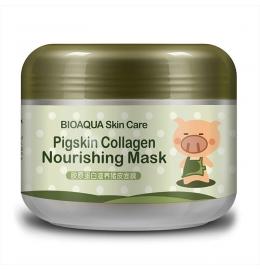 Омолоджуюча маска для обличчя та шиї з колагеном Bioaqua