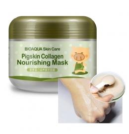 Омолоджуюча маска для обличчя та шиї з колагеном Bioaqua фото 4
