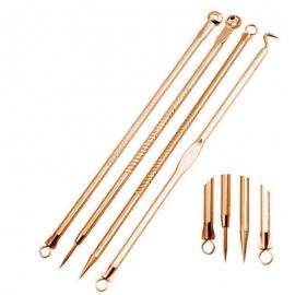 Набор инструментов (золотой) для удаления дефектов и чистки пор фото 3